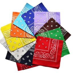 3600 of Assorted Cotton Paisley Bandana Mixed Prints, Mixed Colors BULK Bandannas