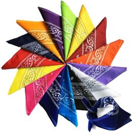 60 of Assorted Cotton Bandana Mixed Prints, Mixed Colors Mix Styles FREE SHIPPING