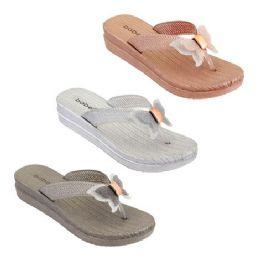 30 of Women's Butterfly Thong Sandals Assorted