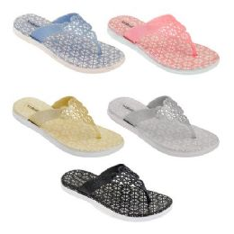 60 of Women's Glitter Sandals In Assorted Color
