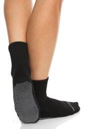 24 of Yacht & Smith Multi Purpose Diabetic Black Rubber Silicone Gripper Bottom Slipper Sock Size 9-11