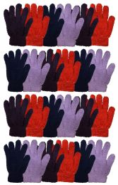 24 of Yacht & Smtih Womens Assorted Colors Warm Fuzzy Gloves
