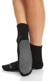60 of Yacht & Smith Womens Loose Fit Gripper Bottom NoN-Skid Slipper Socks ,yoga, Trampoline Socks Solid Black, Size 9-11