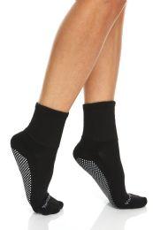 120 of Yacht & Smith Womens Loose Fit Gripper Bottom NoN-Skid Slipper Socks ,yoga, Trampoline Socks Solid Black, Size 9-11