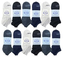48 of Yacht & Smith Mens Cotton Low Cut No Show Loafer Socks Size 10-13 Solid Assorted