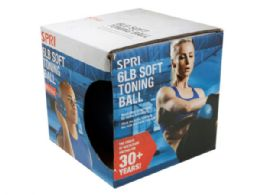 12 of Spri 6lb Soft Toning Weight Ball