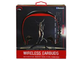 6 of Ihip Warrior Black And Red Bluetooth Athletic Wrap Earbuds