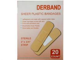 150 of Derband 20 Count 3x 3/4 Sheer Plastic Bandages