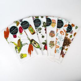 72 of Kitchen Towels 15x25 6 Asst Prints Peggable See n2