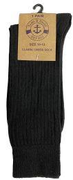 60 of Yacht & Smith Mens Black Dress Socks, Sock Size 10-13 Cotton Ribbed Classic Dress Sock