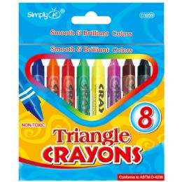 144 of 8 Count Triangle Crayons