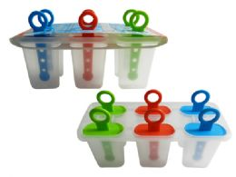 96 of Ice Pop Mould 6pc Assorted Colors