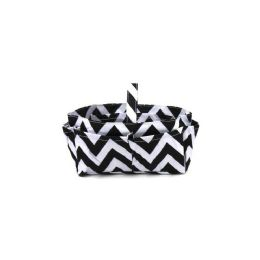 120 of Handbag / Cosmetic Organizer Chevron White/black