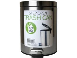 6 of 3 Liter Step Open Trash Can