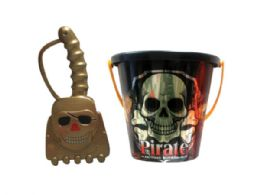 72 of Assorted 6 Pirate Bucket With Shovel