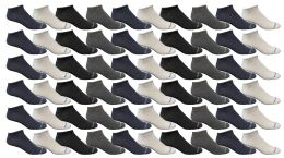 240 of Yacht & Smith Kids Poly Blend Light Weight No Show Ankle Socks Solid Assorted 4 Colors Size 6-8