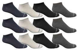 12 of Yacht & Smith Kids Poly Blend Light Weight No Show Ankle Socks Solid Assorted 4 Colors Size 6-8