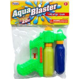 """48 of 6"""" 2-Tank Mini Water Gun In Poly Bag W/header, 3 Assrt"""