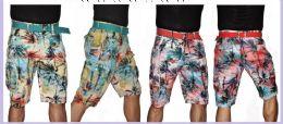 24 of Men's Fashion Printed Cargo Short