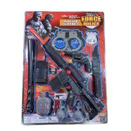 12 of Ten Piece Swat Force Police Playset