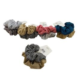 120 of 2 Piece Gingham Scrunchie