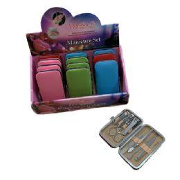 36 of 9 Piece Manicure Set Solid Color