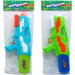 """12 of 18.5"""" Water Gun W/ Pump Actn In Poly Bag W/header, 2 Asst"""