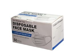30 of 10-Pack Blue 3-Ply Disposable Face Cover With Comfort Ear lo