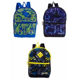 """24 of 17"""" Backpacks With Side Mesh Water Bottle Pocket In 3 Prints"""