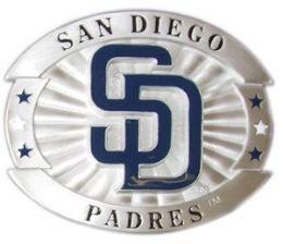 12 of San Diego Padres Belt Buckle