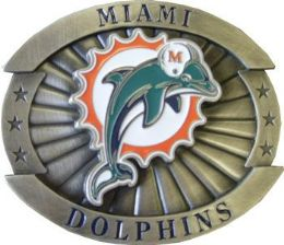 12 of Miami Dolphins Belt Buckle