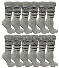 24 of Yacht & Smith Womens Heavy Cotton Slouch Socks, Solid Heather Gray