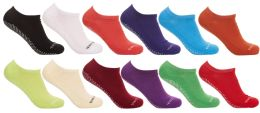 36 of Yacht & Smith Assorted Colors Rubber Grip Bottom Cotton Slipper Socks With Terry Cushion Sole