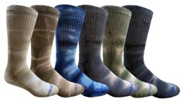 36 of Yacht & Smith Mens Ring Spun Cotton Tie Dye Crew Socks Size 10-13 Super Soft Arch Support