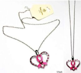 60 of Breast Cancer Awareness Necklace