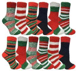 24 of Yacht & Smith Christmas Fuzzy Socks , Soft Warm Cozy Socks, Size 9-11