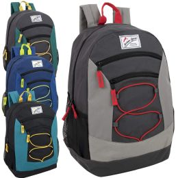 24 of Urban Sport 18 Inch Multi Pocket Bungee Backpack - 4 Colors