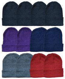 60 of Yacht & Smith Unisex Warm Acrylic Knit Winter Beanie Hats In Assorted Colors
