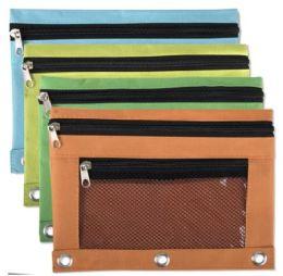 96 of Wholesale 3 Ring Binder Mesh Window Pencil Case
