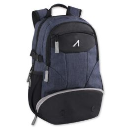 24 of 19 Inch Blue Heather Backpack With Laptop Sleeve