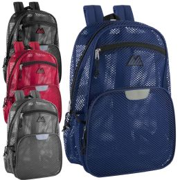 24 of Pro Jersey Reflective 18 Inch Mesh Backpacks