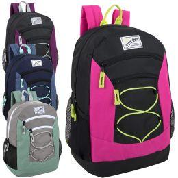 24 of Urban Sport 18 Inch Multi Pocket Bungee Backpack Girls Assortment