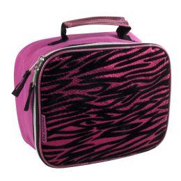 24 of Fridge Pack Pink Zebra Print Lunch Bag