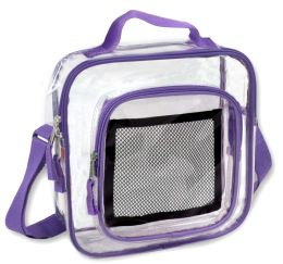 24 of Clear Toiletry Bag In Puple