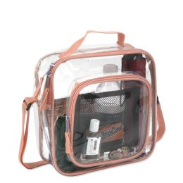 24 of Clear Toiletry Bag In Peach