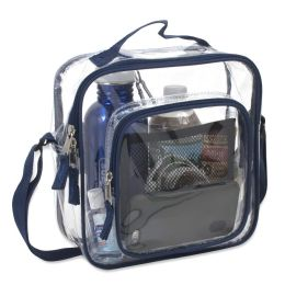 24 of Clear Toiletry Bag In Navy