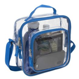 24 of Clear Toiletry Bag In Blue