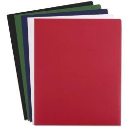96 of Heavy Duty Plastic Folder Assorted Colors