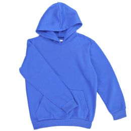 12 of Boys Long Sleeve Sherpa Lined Hoody Sweater In Royal Blue Color