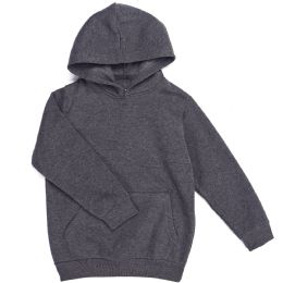 12 of Boys Long Sleeve Sherpa Lined Hoody Sweater In Dark Grey Color
